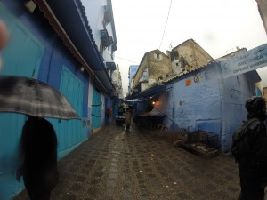 Feeling blue - The soggy streets of Chef's old town