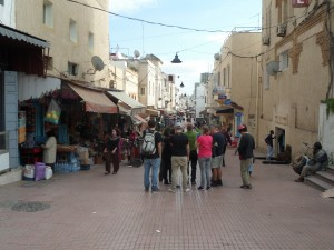 Safety in numbers - We stick together during our first taste of a medina in Rabat