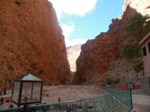 Towering - The view from our base at Todra Gorge